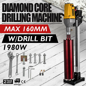 Diamond Drill Concrete Core Machine W stand Bits Drilling Tool Reliable Seller