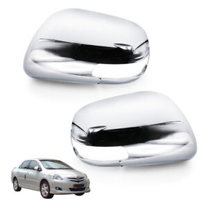 Wing Side Mirror Cover Chrome Fits Toyota Yaris Vios Camry Altis 2007 2009 11