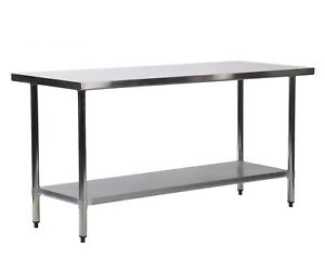 New 24 X 72 Stainless Steel Kitchen Work Table Commercial Kitchen Restaurant