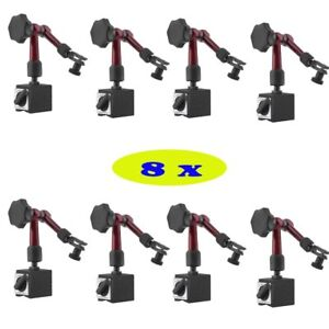 8x Magnetic Base Holder For Digital Level Dial Test Indicator Tool With Stand Mx