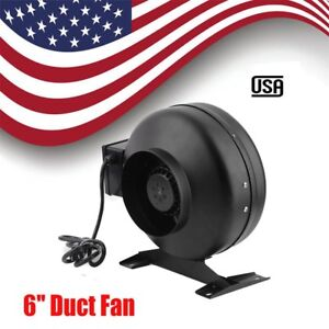 6 Inch Duct Booster Inline Blower Fan 440 Cfm Exhaust Ducting Cooling Vent Mx