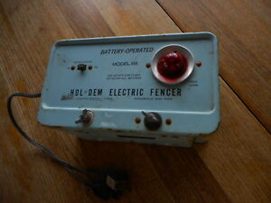 Vintage Electric Fencer Hol Dem Minneapolis Mn Blue Repurpose As Lamp