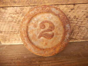 Farmhouse Decor 2 Scale Weight Cast Iron Vintage Paperweight Industrial