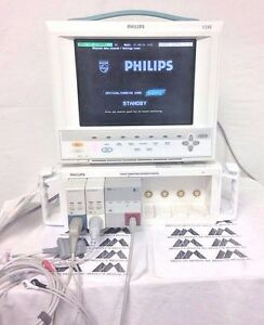 Philips V24c Patient Monitor ecg Nibp Sp02 Biomed Certified And Warranty