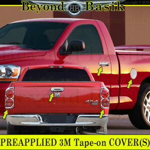 07 08 Dodge Ram 1500 Chrome Door Handle Covers Nopk tailgate taillight Bezel gas