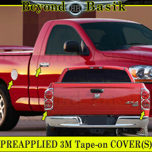 2007 2008 Dodge Ram 1500 Chrome Door Handle Covers W psgkey gas tail Light Bezel