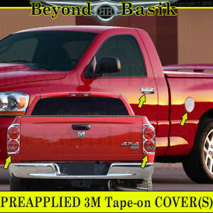 2007 2008 Dodge Ram 1500 Chrome Door Handle Covers Nopsgkey tail Light Bezel gas