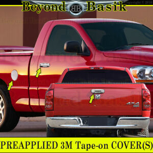 02 08 Dodge Ram 1500 03 09 2500 5500 Chrome Door Handle Covers W Pk Gas Tailgate