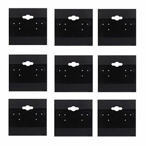 Black Earring Display Cards Wholesale Bulk 2x2 Jewelry Packaging Displays 100pc