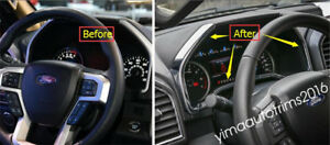 3 Color For Ford F150 2015 2018 Abs Instrument Panel Dash Board Decor Cover Trim