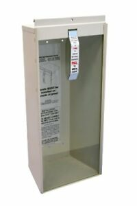 Steel Potter Roemer Surface mount 5 Lb Fire Extinguisher Cabinet Safety Glass