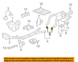 Gm Oem Exhaust intermed Pipe Clamp 10345549