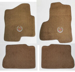 New Tan Floor Mats 2003 2006 Cadillac Escalade Esv Ext Official Crest Logo