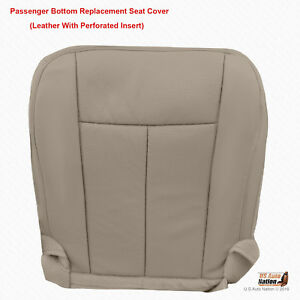 2007 2008 Ford Expedition Passenger Bottom Gray Perforated Leather Seat Cover