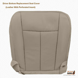 2007 2008 2009 Ford Expedition Eddie Bauer Driver Bottom Gray Leather Seat Cover