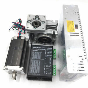 7 5 1 1 8nm Stepper Motor Nema23 Drive power Supply Kit Worm Gearbox L76mm 3a