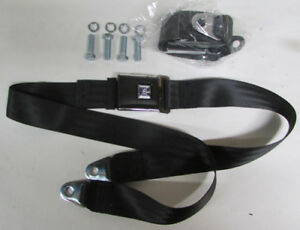 Gm Mark Of Excellence Chevy Black Lap Seat Belts 2 With Mounting Kit 74