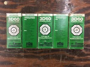 Ramset Power Disc Loads 25 Cal Discs Set Of 5 Boxes 100ct Per Box