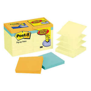 Post it Pop up Notes Canary Yellow 3 X 3 18 pack