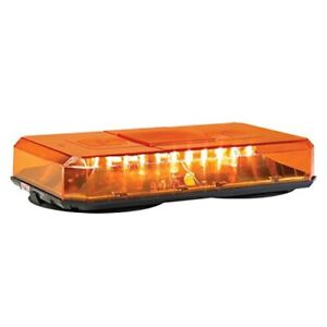 Federal Signal Highlighter Led Mini Lightbar Perm Mount All Amber 454201 02sc