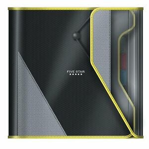 Five Star 1 1 2 Inch Zipper Binder Easy Access Durable Black Yellow