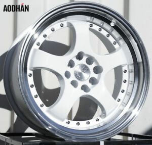 Aodhan Ah03 16x8 4x100 114 3 Et15 White Fits Carrado Del So Civic Crx Fit