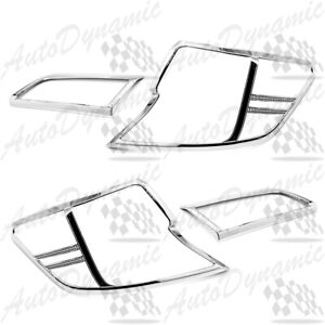 For 2012 2013 2014 Toyota Camry 4dr Trim Bezel Tail Lights Cover 4pcs Covers Us