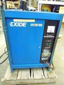Battery Charger For Forklift Exide System 1000 Es1 06 450 B 12v 6 Cells 450ah