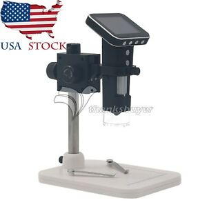 Hd Usb 500x Digital Lab Mobile Microscope Camera 3 5 Lcd Screen Portable Us