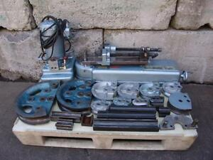 Parker 632 Hydraulic Tube Bender With Many Dies Pump Great Shape 2