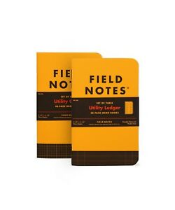 Field Notes utility Ledger 3 pack Sealed Fnc 34b