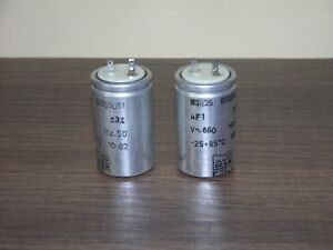 Pair Matched Icar Italy Msr25 1uf Oil Papier Pio Capacitor Nos Best For Audio