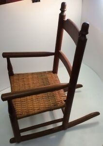 Antique Child Size Doll Rocking Chair 23 Tall X 20 Deep X 14 Wide