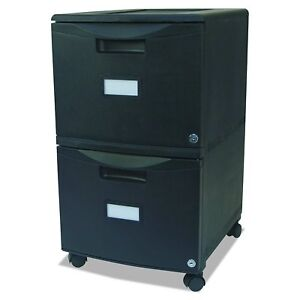 Storex 2 drawer Mobile File Cabinet With Lock Legal letter 18 25 X 14 75 X 26