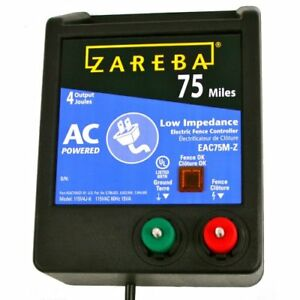 New Zareba Eac75m z 75 mile Ac Low Impedence Charger Fencing Livestock Supplies