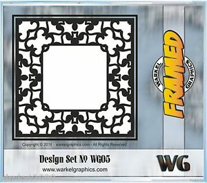 Framed Plasma Router Cnc Vector Clip Art Collection Eps Dxf Sug Retail 69