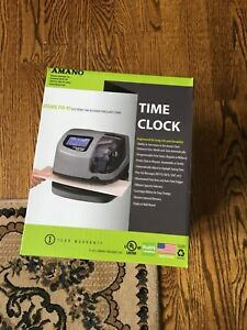 Amano Atomic Pix 95 Electronic Time Clock Time Recorder Date Stamp Brand New