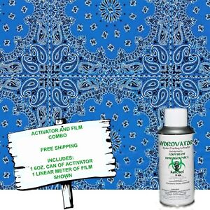Hydrographic Film Water Transfer Hydro Dip 6oz Activator W Blue Bandanna Kit