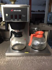 Aramark Lot 2 Commercial Coffee Maker Machine 3 Pot Warmer 12 Cup Brewer