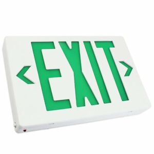 Ac 120v 277v Single double Face Led Exit Sign Green Letter Ul classified Wit