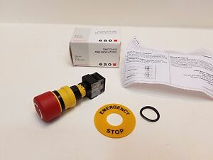 Eao Eus 61 3440 41 Emergency Stop Switch Pushbutton Spst nc 2a 250v