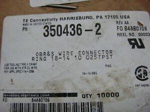 Te Connectivity amp 350436 2 Ring 18 14 Connector roll Of 10000