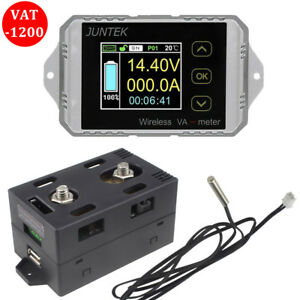 Vac1200a 7 In 1 Color Lcd Wireless Voltage current timer Tester Coulomb Counter