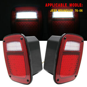 For 76 06 Jeep Wrangler Cj Yj Tj Led Tail Braketrailer Light Turn Signal Reverse