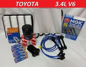 Ngk Wire Set spark Plugs air fuel oil kit For Toyota 4runner Tacoma V6 3 4l