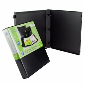 Unikeep 3 Ring Binder Black Case View Binder 1 5 Inch Spine With Clear