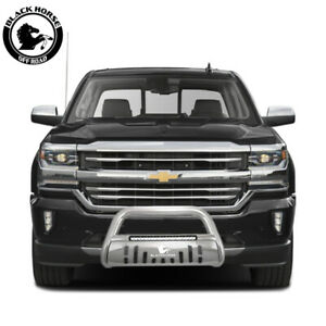 Black Horse 2007 2013 Chevy Avalanche Stainless Beacon Led Bull Bar Bumper Guard