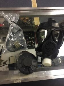 Survivair Opti fit Gas Mask W drink Tube New