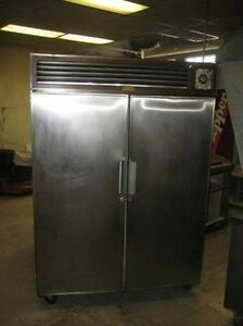 Commercial Stainless Cooler Refrigerator Older Unit Works But Needs Cleaning