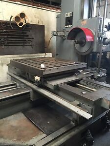Horizontal Boring Mill Ceruti Made In Italy Ac100 With Vertical Head Tailstock